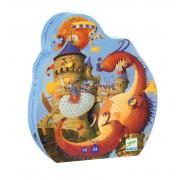 Puzzle Djeco Cavalerul si Dragonul
