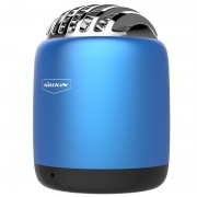 NILLKIN Metal Cavity Remote photography Bullet Mini Wireless Speaker with Mic - Blue