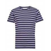 By Garment Makers The Organic Multistriped Tee T-shirts Short-sleeved Blå By Garment Makers