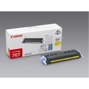 Canon Cartucho de tóner Original CANON 707 Amarillo para i-SENSYS LBP5000, LBP5100, Laser Shot LBP-5000, 5100