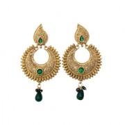 Indian Style Beaded Dangle Drop Fashionable Earrings Traditional Jhumka Jhumki Earrings for Women 21 GREEN