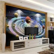 ponana Papel Tapiz Autoadhesivo Personalizado 3D Cool Children'S Room Universe Starry Sky Mural Living Room Fondo De Pared Para Niños-250X175Cm