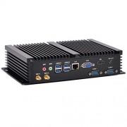KINGDEL Ultra-Silent Nettop, Intel i7 CPU Home PC, 4K: 3200 x 2000, 2xCOM RS232, 4xUSB 3.0, HD, VGA, Wi-Fi, Windows 10, 8GB RAM + 256GB SSD