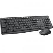 Logitech Billentyűzet/Egér Kit - MK235 (Vezeték nélküli, USB, fekete)