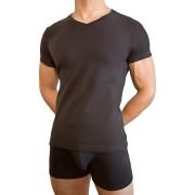 Baskit V Neck Black T Shirt A1650