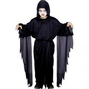 Scary Witch Costumes Unisex (Age 2-4 Years) Halloween Black Fly Gown Fancy Dress Costume Dress | Party | School Events | Fancy Dress | Birthday | B'day Party | Gift | Baby Show