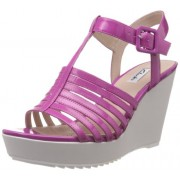 Clarks Women's Scent Lily Pink Leather Fashion Sandals - 6 UK