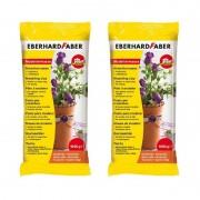 Eberhard Faber 2x zakjes terracotta kleur boetseer klei 1 kilo