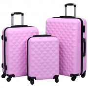 vidaXL Ensemble de valises rigides 3 pcs Rose ABS