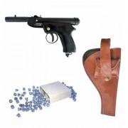 Prijam Air Gun Pd-007 Model With Metal Body For Target Practice Combo Offer 300 Pellets With Cover Air Gun