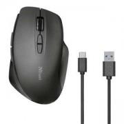 Безжична мишка TRUST Themo Wireless Rechargeable Mouse, 800, 1200, 1600 DPI, черен, 23340