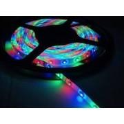 LED szalag kültéri (vízálló IP65) 14,4W / m teljesítménnyel, , RGB szinváltós , 12V DC, 10mm széles, 60 LED/m SMD LED, 120°(Tracon LED-SZK-144-RGB)