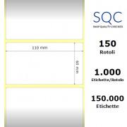 Etichette SQC - polipropilene opaco (bobina), formato 110 x 60