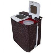 Glassiano Coffee Waterproof & Dustproof washing Machine Cover For Panasonic Semi Automatic Top Load -All size model