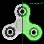 Wobbox Fidget Spinner High Speed 1-3 Min Smooth Spin with Lowest Sound Light Glow in The Dark Glowing Fidget Spinner Luminous, Fluorescent