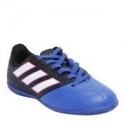 Adidas Chuteira Ace 17 4 In J - Preta & Azul Royal - Adidas