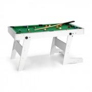 OneConcept Trickshot mesa de juego billar 140 x 64,5 16 bolas 2 tacos MDF blanco (FIT4 Trickshot WH)