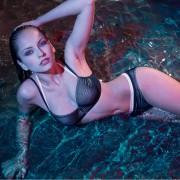 Nicole Olivier Gestreifte Bikini·top·BERENICE