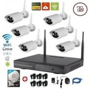 Wireless 8Ch HD NVR 6 WiFi Bullet Camera Kit