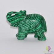 Elefant malachit figurina gravata 45mm