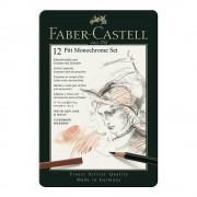 Set desen FABER-CASTELL Pitt Monochrome 12 piese, FC112975