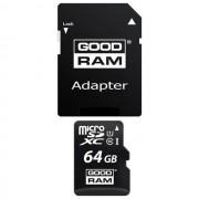 Goodram $$ Memory Card M1aa Microsd Hc 64 Gb + Adattatore Sd Classe 10 Per Modelli A Marchio Htc