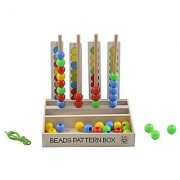Skillofun Wooden Beads Pattern Box Multi Color