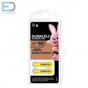 Duracell Hearing Aid DA10 N6 Easy Tab +50% more power 1db elem hallókészülék elem
