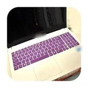 Keyboard Cover Protector de Silicona para Teclado ASUS V587Un Zx50Jx Zx60Vm R558Uv Rog Strix S5 R557Li R513C Vm510Lf5500 Vm510L5005, Púrpura