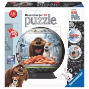 Ravensburger puzzle 3d viata secreta a animalelor, 108 piese