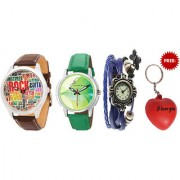 Combo of 3 Different Analog Watches With Key Chain