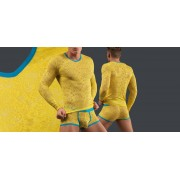 Manstore M566 Long Sleeve-Geel (200)-L