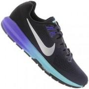 Nike Tênis Nike Air Zoom Structure 21 - Feminino - Azul Escuro/Prata