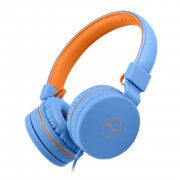PICUN C30 Adjustable Children 3.5mm Over-Ear Headset with Mic - Blue / Orange