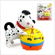 Elloapic Electric Universal Moving Cute Lovely Dalmatians Singing Dog Puppy with Sound Music and Light