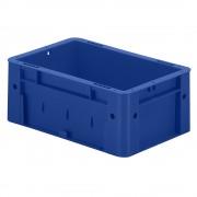 Schwerlast-Euro-Behälter, Polypropylen Inhalt 4,1 l, LxBxH 300 x 200 x 120 mm, Wände geschlossen Boden geschlossen, blau, VE 8 Stk