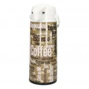 Geen Plastic thermoskan voor koffie groen/wit 1900 ml