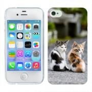 Husa iPhone 4S Silicon Gel Tpu Model Kitties
