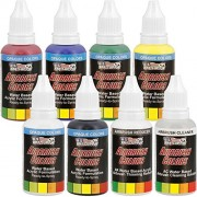 U.S. Art Supply 6 Color Starter Acrylic Airbrush, Leather & Shoe Paint Set Primary Opaque Colors Plus Reducer & Cleaner, 1 oz. Bottles