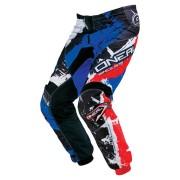 Oneal O´Neal Element Shocker Pantalones de Motocross Negro/Rojo/Azul 36