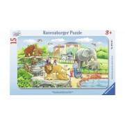 Puzzle Copii 3Ani+ calatorie la zoo, 15 piese