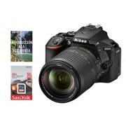 Nikon Cámara Nikon D5600 AF-S DX 18-140mm f/3.5-5.6G ED VR (APS-C de 24.2mpx, Formato DX, Full HD 1080p a 60/50/30/25/24p) + Tarjeta SDHC de 16Gb UHS-I