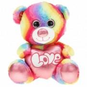 Merkloos Regenboog kleuren troetelbeer knuffel 40 cm