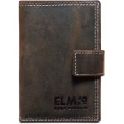 EL Mio Brand New Stylish, Classic & Royal 100% Pure & Natural Genuine Vintage Brown Leather Unisex Trendy Rustic Modern 24 Card Holder(Set of 1, Brown)