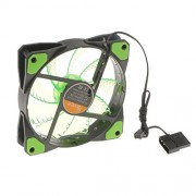 ELECTROPRIME® 3-4Pin 15 LEDs Light Neon Quite 120mm PC Computer Case CPU Cooling Fan Green