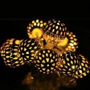 Arany gömb LED égősor