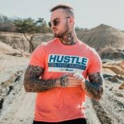 GymBeam Majica Hustle For That Muscle Heather Orange S