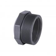 "Reducción roscada corta PVC macho x hembra - 1½"" x 1¼"""