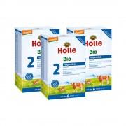Holle 3x Holle Bio-Folgemilch 2 nach dem 6. Monat (3x600g)