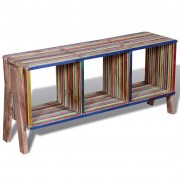 vidaXL TV Cabinet with 3 Shelves Stackable Reclaimed Teak Colourful
